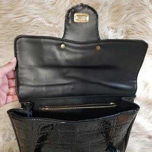 Vintage Bags - 1980's Patent Leather purse black